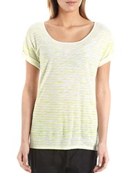 424 Fifth Striped Tee Citron