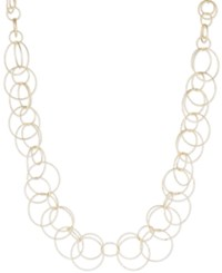 Anne Klein Bubble Style Open Link Collar Necklace