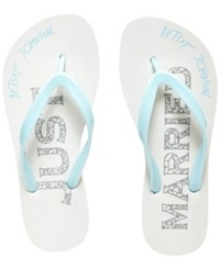 Blue By Betsey Johnson Amy Bridal Flip Flops Women's Shoes White Blue
