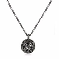 Sonal Bhaskaran Svar Ruthenium Necklace Black Spinel