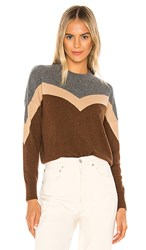 27 Miles Malibu Blakely Sweater In Brown. Charcoal Camel Spice