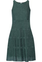 M Missoni Metallic Stretch Knit Dress Green