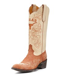 University Of Texas Tall Gameday Boots White Orange Gameday Boot Company