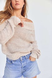 Kimchi And Blue Kelli Off The Shoulder Sweater Peach