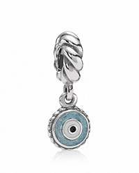 Pandora Design Pandora Dangle Charm Sterling Silver And Enamel Watchful Eye Moments Collection Silver Blue