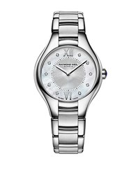 Raymond Weil Ladies Noemia Silvertone Watch With Diamonds