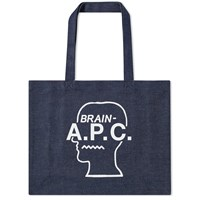A.P.C. X Brain Dead Denim Shopping Bag Blue