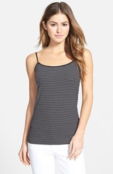 Women's Halogen 'Absolute' Camisole Black White Stripe