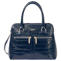 Modalu Pippa Small Leather Grab Navy Croc