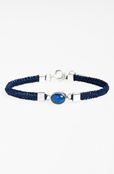 Caputo U0026 Co Blue Agate And Sterling Silver Bracelet Navy Blue Agate