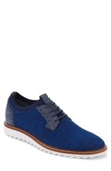 G.H. Bass 'S And Co. Buck 2.0 Plain Toe Derby Royal Blue Knit Nubuck