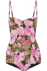 Dolce And Gabbana Printed Swimsuit Pink