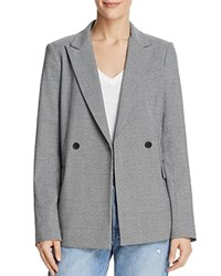 Dylan Gray Double Breasted Micro Houndstooth Blazer Black Multi