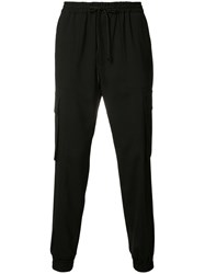 Juun.J Cargo Pocket Track Pants Black