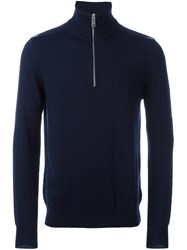 Burberry Zipped Jumper Blue