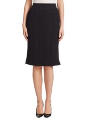 Saks Fifth Avenue Pleated Midi Skirt Navy Black