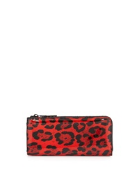 French Connection So Fresh Leopard Print Wallet Red Black