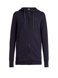 Lndr Coach Hooded Zip Through Performance Sweatshirt Navy
