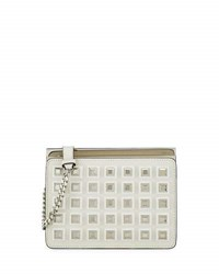 Fendi Demi Jour Studded Crossbody Bag White