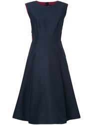 Marni Piped Flared Dress Blue
