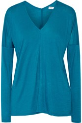 Vince Stretch Jersey Top Blue
