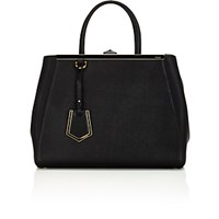 Fendi Women's 2Jours Medium Satchel Black Blue Black Blue