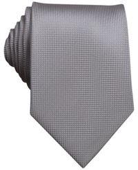 Perry Ellis Oxford Solid Tie Charcoal