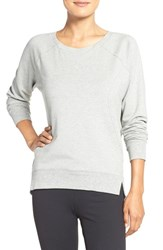Zella Women's 'Luxesport' Long Sleeve Sweatshirt Grey Medium Heather