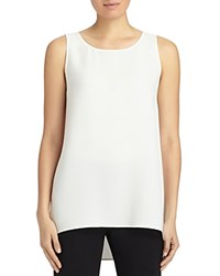 Lafayette 148 New York Ruthie Sleeveless Silk Blouse Cloud