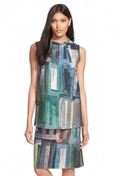 Lafayette 148 New York 'Fonda' Print Sleeveless Top Cadet Multi