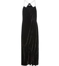 Edun Printed Velvet Dress Black