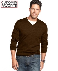 Club Room Big And Tall Merino Blend V Neck Sweater