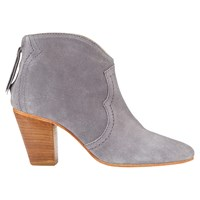 Jigsaw Cara Stacked Heel Ankle Boots Grey Suede