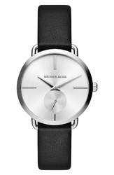 Michael Michael Kors Women's Portia Leather Strap Watch 36.5Mm