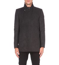 Reiss Inferno Wool Blend Jacket Charcoal