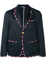Thom Browne Unconstructed Tux Sack Sport Coat Blue