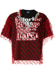 Kolor Double Layer T Shirt Red