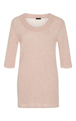 Atm Anthony Thomas Melillo Speckled Cashmere Sweater Light Pink