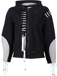 Anne Sofie Madsen Lace Up Detail Zipped Hoodie