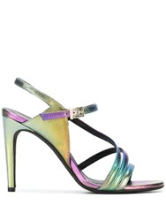 Zadig And Voltaire Marilyn Rainbow Sandals Purple