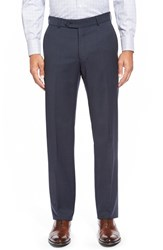 Men's Big And Tall Ballin Flat Front Solid Wool Trousers New Navy