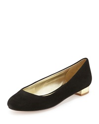 Elaine Turner Designs Lane Suede Leather Ballet Flat Black
