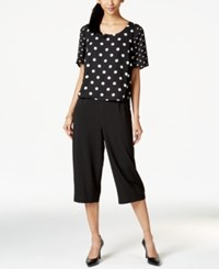 Ny Collection Popover Printed Capri Jumpsuit