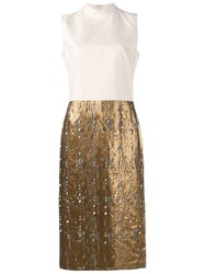 Dries Van Noten Dina Pearl Embellished Dress White