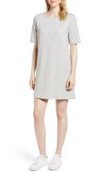 Gibson Pleat Back Minidress Solid H Grey