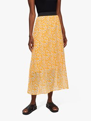 Selected Femme Floral Maxi Skirt Radiant Yellow