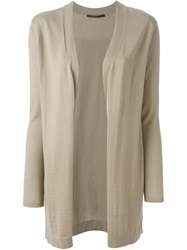 Agnona Open Front Cardigan Nude And Neutrals
