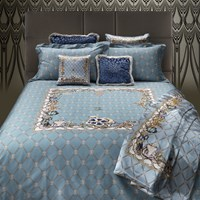 Roberto Cavalli New Spider Bed Set Light Blue