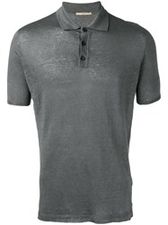 Roberto Collina Knit Polo Shirt Grey