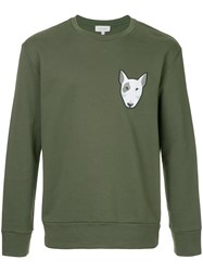 Ck Calvin Klein Embroidered Dog Sweatshirt Green